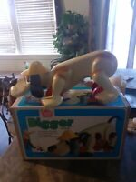 VTG 1970s Romper Room Digger Dog Pull Toy with ORIGINAL BOX!