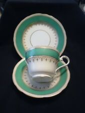 BEAUTIFUL VINTAGE AYNSLEY GREEN AND WHITE TRIO