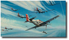Jet Hunters (Pilot Ed) by Robert Taylor - Mustang - Me262 - WWII - Military Art