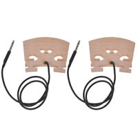Electric Violin Bridge with Internally piezo Pickup for 4/4 Violin Bridge 2Pcs