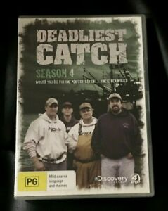 Deadliest Catch : Season 4 (DVD, 2009, 4-Disc Set) Very Good Condition Region 4