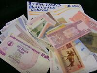 Lot of 30 diff.  World Banknotes, used and new...(G).