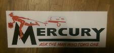 Mercury Travel Trailer Vintage style Decal. Black & red