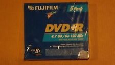 FUJIFILM DVD+R 4.7GB/Go 120Min 8x Blank Storage Media Jewel Case 5-Pack (New)