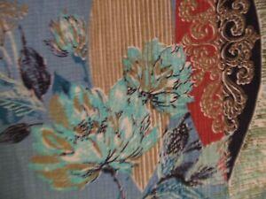 Vintage Pair Curtains Mid Century Barkcloth FABRIC 1940'S 1950'S UNIQUE DESIGN