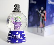 Nightmare Before Christmas Barrel Figure Lighted 55mm Sparkler Water Snow Globe