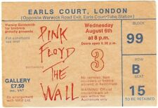 More details for pink floyd the wall ticket earls court 6th august 1980 very good condition