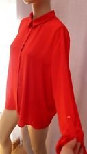 AL Ladies Dorothy Perkins Red Button New Top / Shirt blouse smart work 18uk