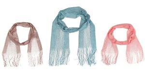 Ladies Womens Scarf Dress Neck Fashion Light Mesh Lace Net Soft Multi coloured