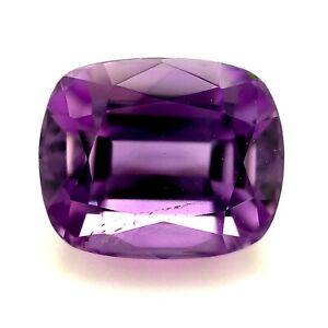 4.1ct Purple Amethyst Stone, Cushion VVS, Brazil Natural Gemstone *Video*