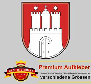 Auto Aufkleber Wappen Emblem Logo Hamburg Motorrad Styling Sticker Autoaufkleber