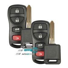 2 Keyless Entry Remote Key & Uncut Chip Key For Nissan Cube Maxima Altime Versa