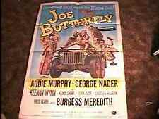 JOE BUTTERFLY MOVIE POSTER '57 AUDIE MURPHY