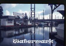 1960s 35mm  Photo slide Marine Standard Gas Station Camas WA
