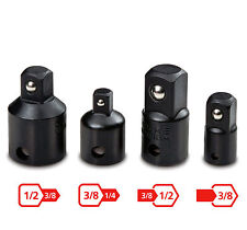 Premium impact Tool Socket Driver Size Changer Reducer 3/8 1/2 1/4in Adapter Set
