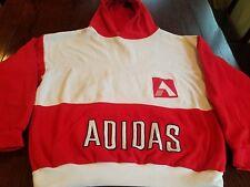 Rare Vintage 70s Adidas Trefoil Russian Hoodie Streetwear Oop Large Red & White