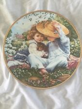 A Time To Love Reco 1989 Collector Plate # 12046 March Of Dimes Sandra Kuck
