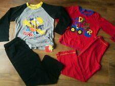 Boys 2 sets of full lenght pyjamas 5-6 years