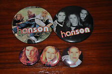Rare lot of 5 Hanson promo Middle of Nowhere pins!