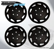 "Pop-On Wheel Rims Skin Cover 15"" Inch Matte Black Hubcap 15 Inches #807 Qty 4pc"