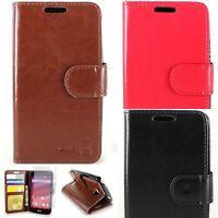For LG Tribute Transpyre Optimus F60 Leather Case Flip Folio Wallet Pouch Cover