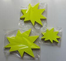 200 Pfeile Kreise Sterne Sortiment Preisschild Karton Werbung Räumungdverkauf