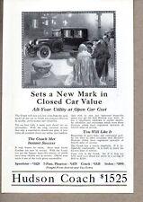 1923 Print Ad Hudson Coach Cars Detroit,MI