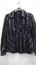 Matalan Papaya Black and Silver Grey Striped  Shirt size 12
