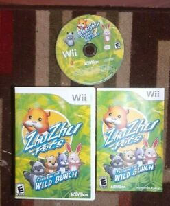 Zhu Zhu Pets: Featuring the Wild Bunch Complete (Nintendo Wii) VG Shape & Tested