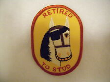 New Mens Light Horse Retired to Stud Gold Patch