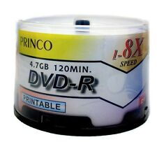 600 Princo 8X White Inkjet Printable DVD-R Disc 4.7GB Free Standard Shipping