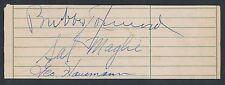 1940's Baseball Signed Album Page SAL MAGLIE (vintage) BUBBER JONNARD +