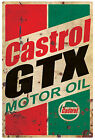 CASTROL  GTX  MOTOR OIL  RUSTIC  TIN SIGN  20 x 30 cm