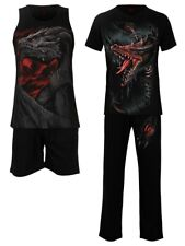 Spiral Pyjama Set Men's Breaking Out Black 4pc