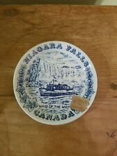Niagara Falls Maid Of The Mist Wood & Sons Plate 4.5 ""