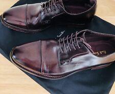 """Paul Smith Mens """"Ernest"""" Aubergine Shoes Size 7.5"""