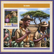 Niger 2017 MNH Boy Girl Scouts Scouting Robert Baden-Powell 1 S/S Stamps