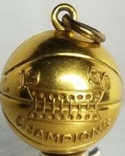 1950 CHAMPIONS BASKETBALL GOLD FILLED CHARM / PENDANT by JOSTEN-FREE USA SHIP