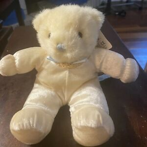 """Vintage Russ Berrie Plush #2322 Beige With Original Tag Silky Outfit 9"""" Tall"""