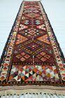"""Kurdish Herki Carpet Runner, Stair Rug, Aisle Rug 35""""x146"""" Hallway Rug, Corridor"""