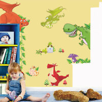 Dinosaur Dragon Wall Sticker Vinyl Decals Kids Nursery Room Animals Decor