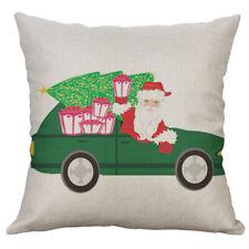 Christmas Car Tree Pillow Case Sofa Car Waist Throw Cushion Cover Home Decor