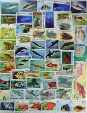 FISH & MARINE LIFE, superb stamp collection of 300 different stamps (lot#dp)