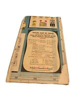 Texas Vintage 1960 Official Driving Map Highway Department Travel Tourism