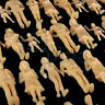 100 pcs. Standing 1:24 Figures Unpainted G Gauge People 1:25 Scale Male & Female