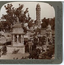 INDIA, Tower of Victory & Royal Cenotaphs, Chitor--Underwood #91