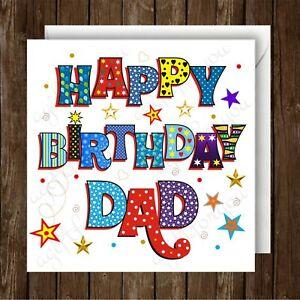 Happy Birthday Dad Greeting Card. 148mm x 148mm