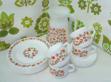 Vintage Pyrex Arcopal Scania French Jug 8 Sideplates 4 Cups & 4 Saucers  (2)