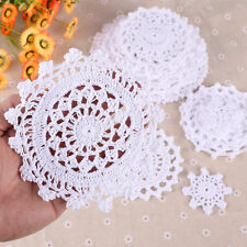 24 x Vintage Bulk Lace Linen Cotton Crochet Doilies Motifs Home Table D