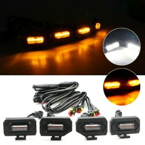 4 Rauch Linse Kühlergrill LED Lichter for Toyota TACOMA W / Trd Pro 2020-Up Gelb